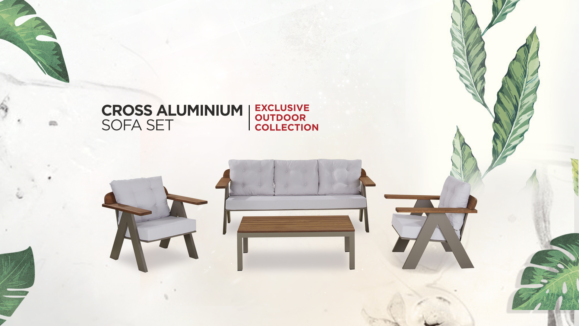 Cross Aluminium Sofa Set